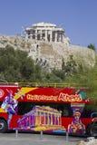 Athens' turnerar den öppna bästa sighten bussen arkivfoton