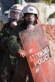 Athens 08 12 18 zamieszek Obrazy Stock