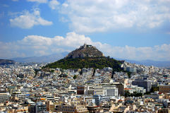 Athens. View of the city of Athens from above Royalty Free Stock Photo