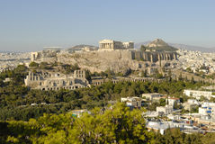 Athens. The Acropolis of Athens and the Odeon of Attalus Royalty Free Stock Photo