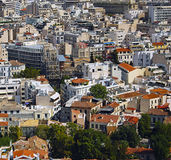 Athens. Aerial view of the city of Athens Stock Photos