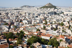 Athens. Panorama view of Athens from Acropolis hill Stock Photography