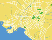 Athens. Layered vector illustration map of Athens,Greece Royalty Free Stock Photography