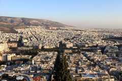 Athens from above Royalty Free Stock Images
