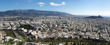 Athens from above. Athens panoramic view from tourkovounia hill stock photography