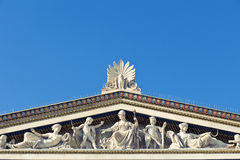 Athens Academy. Detail of the sculptures at , Instagram look Royalty Free Stock Image