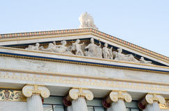 Athens academy gold pediment Stock Image