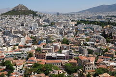 Athens from the Acropolis Stock Photography