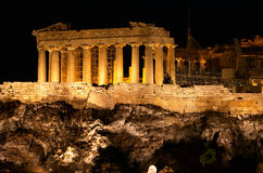 Athens, Acropolis. Greece, Athens, Acropolis at the night Royalty Free Stock Image