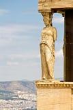 Athens Acropolis, Caryatids Statue Royalty Free Stock Photo