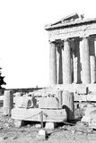 Athens  acropolis and  historical    in greece the old architect Royalty Free Stock Image
