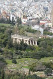 Athens acropolis over the city Stock Images