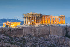 Athens. Acropolis and Parthenon temple in the city of Athens, Greece royalty free stock images