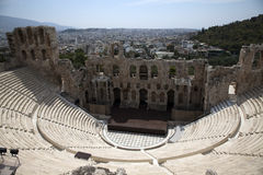 Athens Acropolis theater Stock Photo