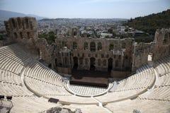 Athens Acropolis theater. Ruins of thens Acropolis theater stock photo