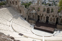 Athens Acropolis theater. Ruins of ancient Acropolis theater stock photography