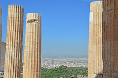 Athens and the Acropolis Stock Photography
