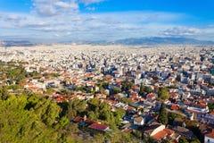 Athens aerial panoramic view Stock Photo