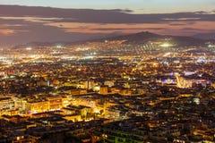 Athens aerial panoramic view Royalty Free Stock Photo