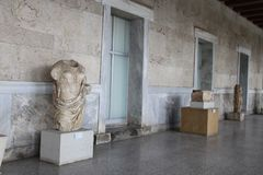 Athens Agora, ruins and temples. Ruins and temples in Athens Agora Royalty Free Stock Image