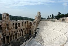 Athens Amphitheater Stock Photography