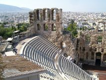 Athens amphitheater Stock Photos