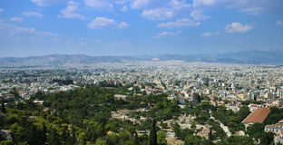 Athens with the ancient Agora Royalty Free Stock Photos