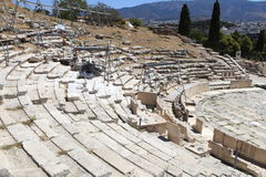 Athens Ancient Theatre of Dionysus Royalty Free Stock Images