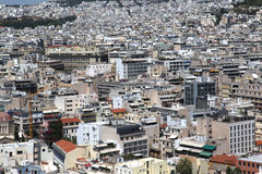 Athens as seen from the Acropolis, Greece Stock Image