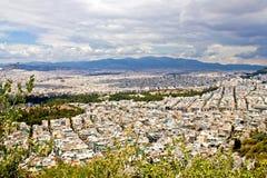 Athens beskådar Royaltyfri Fotografi