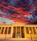 Athens - The building of National and Kapodistrian University of Athens Stock Images