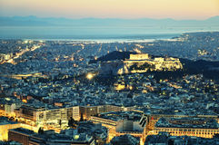 Athens By Night Stock Images