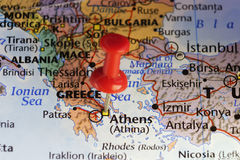 Athens capital city of Greece. Copy space available Stock Photography