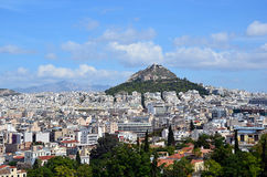 Athens capital city and lycabettus hill landscape photography. Athens capital city and lycabettus hill landscape Stock Photo
