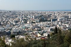 Athens capital of greece. Europe Royalty Free Stock Image