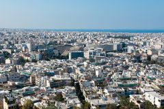 Athens capital of greece europe. Centre pireo Royalty Free Stock Images