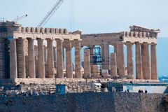 Athens capital of greece europe. Parthenon centre Royalty Free Stock Photography