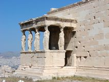 Athens, the Caryatids royalty free stock image