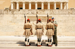Athens, the changing of the guard Stock Images