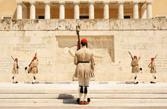 Athens, the changing of the guard Stock Photo