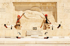 Athens, the changing of the guard Royalty Free Stock Photo