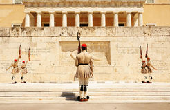 Athens, the changing of the guard Royalty Free Stock Image
