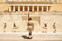 Athens, the changing of the guard Royalty Free Stock Photos