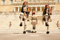 Athens, the changing of the guard Royalty Free Stock Images