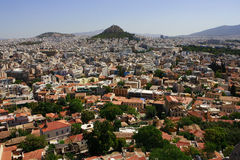 Athens city, Greece. View of Athens from Acropolis, Greece Royalty Free Stock Images