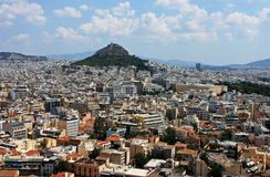 Athens city and Lycabettus Mount, Greece Royalty Free Stock Images