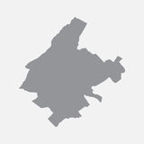 Athens city map in gray on a white background Stock Photo