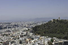 Athens city and monastery Royalty Free Stock Photography