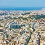 Athens city from Mount Lycabettus, Stock Photography