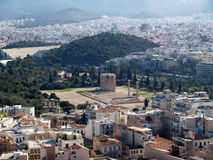 Athens city and Temple of Zeus hill Royalty Free Stock Image